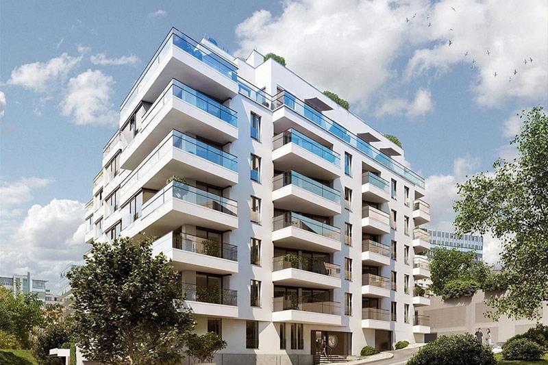 Novostavba bytového domu 4U Living v Praze 4