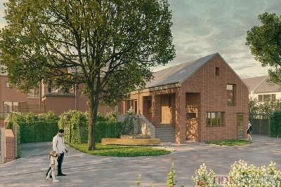 Byt 3+kk s výměrou 93 m2, s terasou 31 m2, Dolní Měcholupy, ul. Na Návsi