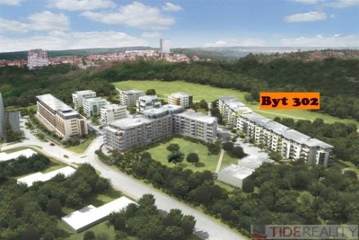 Rent of furnished 2-bedroom apartment with air condition in brand new building, Tibetská st., Prague 6